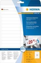 4209 Etiketten A4 weiß 96×16,9 mm Movables/ablösbar Papier matt 800 St.